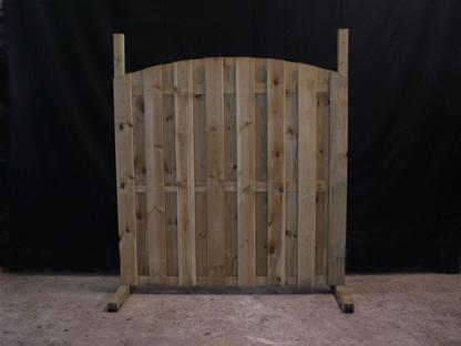 07.024 Tuinscherm (met houten steunen)